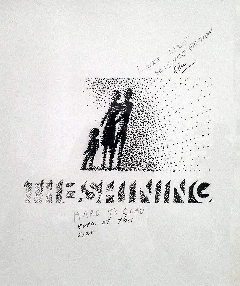 The Shining Sample Poster - Saul Bass