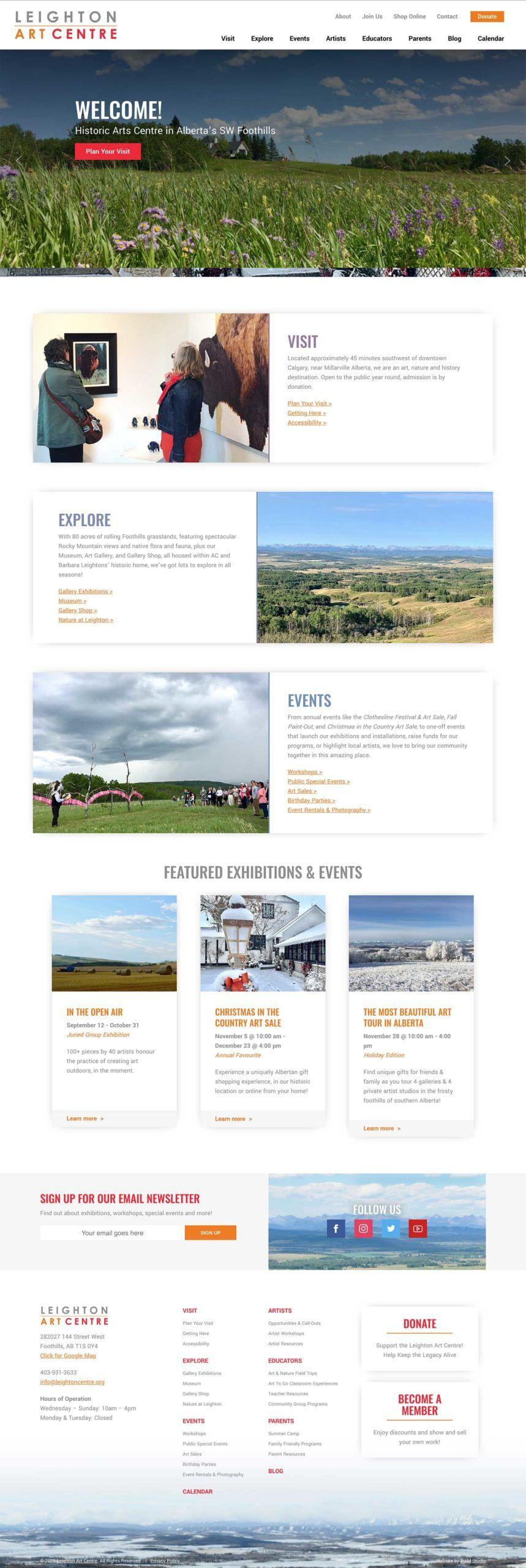 Leighton Art Centre Website