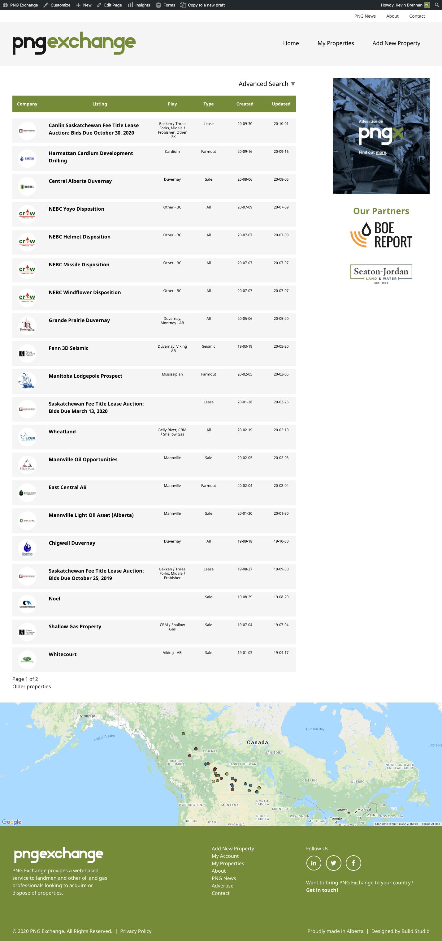 PNG Exchange Website