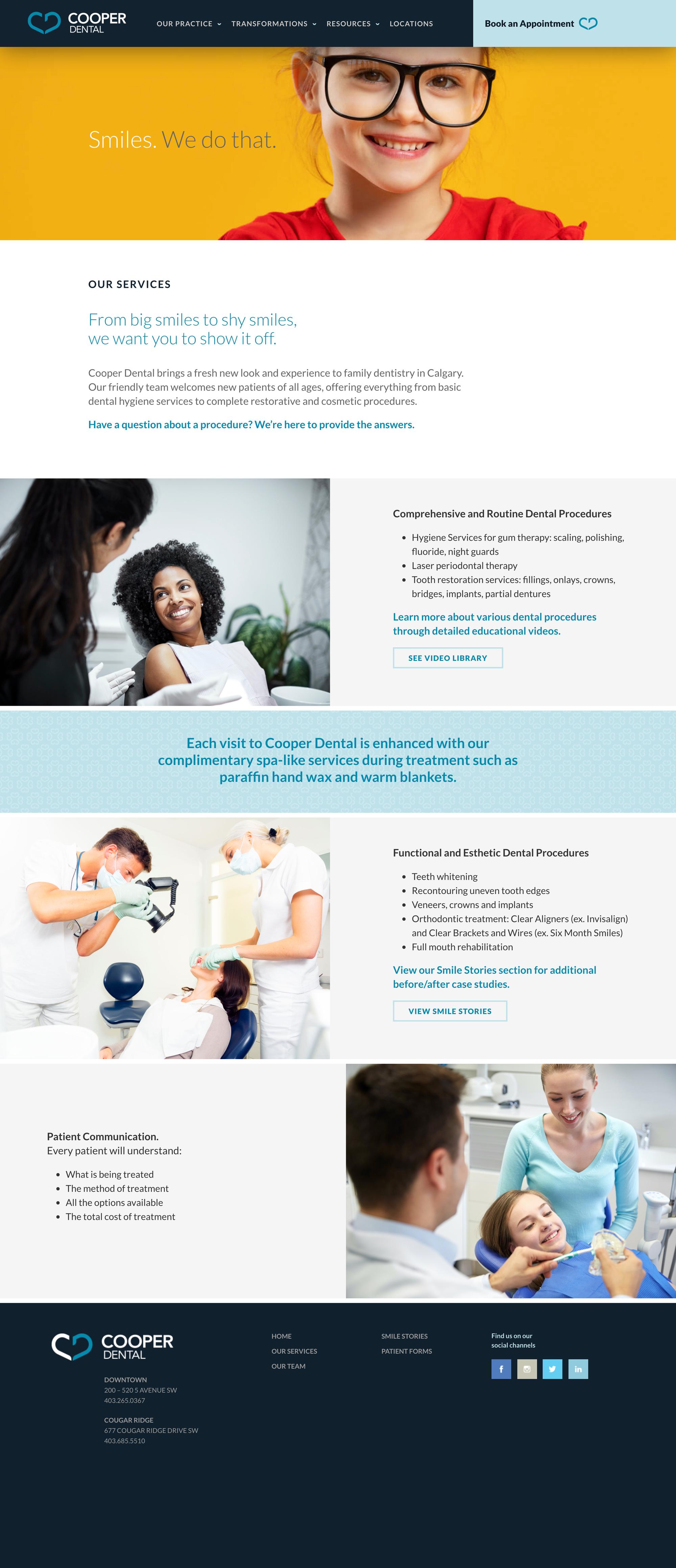 Cooper Dental Website Services